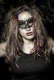 Sensual.Girl.Veni ce karnawału maski zakończenia kobieta portrait.in f obraz stock