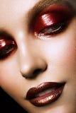 Sensual glamour portrait of beautiful woman model lady Stock Photo