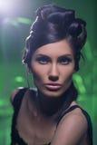 Sensual glamour portrait of beautiful woman model lady Royalty Free Stock Photos