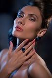 Sensual glamour portrait of beautiful woman model lady Royalty Free Stock Photo