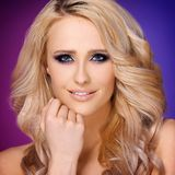 Sensual and glamour portrait of blond woman Stock Photos