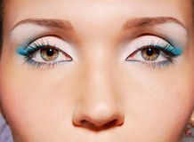 The sensual green eyes royalty free stock photography
