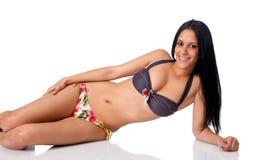 Sensual Hispanic Girl Stock Image