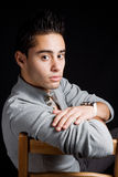 Sensual Hispanic Young Man Royalty Free Stock Photography