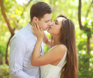 Sensual kiss young couple Royalty Free Stock Image