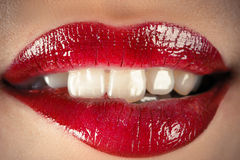 Sensual lips Stock Image