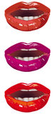 Sensual lips. In red and purple colors Stock Photo