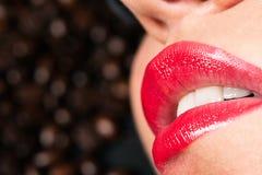 Sensual lips Stock Photos