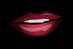 Sensual lips Stock Images