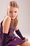 Sensual Little Girl Sitting On Floor Royalty Free Stock Images