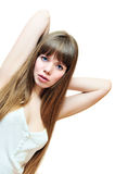 Sensual  longhaired girl Royalty Free Stock Images