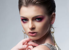Sensual luxurious woman with bright makeup Stock Photo