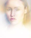 Sensual model close up portrait Stock Images