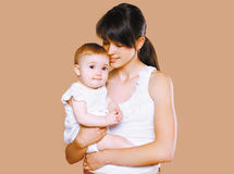 Sensual mom and baby Royalty Free Stock Images