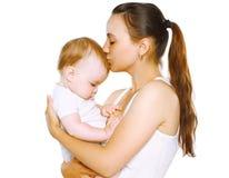 Sensual mom kiss baby Stock Images