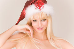 Sensual Mrs. Santa Royalty Free Stock Photos
