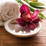 Rejuvenating sensuality from pampering yourself stock photo