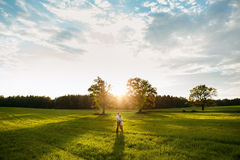 Free Sensual Outdoor Portrait Of Young Stylish Couple Posing In Field Stock Photography - 46934522