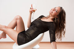 Sensual party girl. Stock Photography