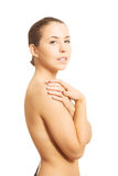 Sensual portrait of bare woman Royalty Free Stock Photos