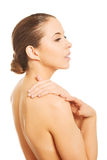 Sensual portrait of bare woman Royalty Free Stock Image