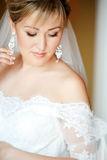 Sensual portrait of bride Stock Image