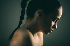 Sensual sad brunette Stock Image