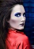 Sensual portrait gothic female Royalty Free Stock Photo