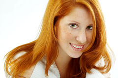 Sensual portrait of redheaded girl Royalty Free Stock Photo