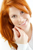 Sensual portrait of redheaded girl Stock Photos
