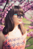 Sensual portrait of a spring woman Royalty Free Stock Image