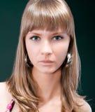Sensual portrait of young beautiful woman Stock Photos