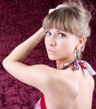 Sensual portrait of young beautiful woman Royalty Free Stock Image