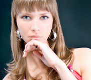 Sensual portrait of young beautiful woman Stock Photo