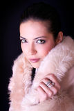 Sensual portrait of young beautiful woman Royalty Free Stock Photos