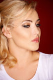 Sensual portrait of a young blond woman Royalty Free Stock Images