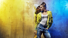 Sensual portrait of a young couple of dancers Royalty Free Stock Image