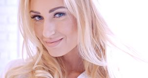 Sensual Pretty Face of Young Blond Woman Royalty Free Stock Photo