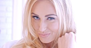 Sensual Pretty Face of Young Blond Woman Royalty Free Stock Photography