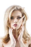 Sensual pretty woman with flying hair Royalty Free Stock Images