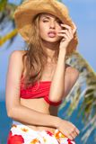 Sensual Pretty Woman in Summer Beach Outfit Royalty Free Stock Images