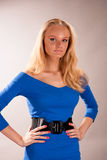 Sensual pretty young blonde girl. Isolated stock images