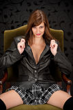 Sensual provocative Hispanic fashion model Royalty Free Stock Images