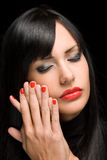 Sensual red shine. Royalty Free Stock Images