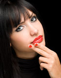 Sensual red shine. Stock Photography