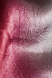 Sensual red and silver silk fabric Royalty Free Stock Images