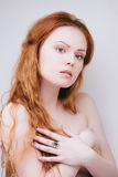 Sensual redhead girl Royalty Free Stock Image