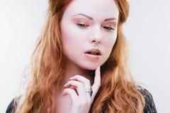 Sensual redhead girl Stock Photo