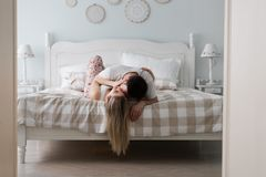 Free Sensual Romantic Foreplay By Couple In Bed Stock Images - 133547324