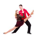 Sensual salsa dancing couple Royalty Free Stock Photo
